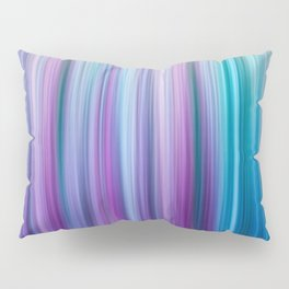 Abstract Purple and Teal Gradient Stripes Pattern Pillow Sham