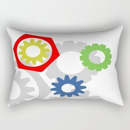 Colorful gears-shapes Rectangular Pillow