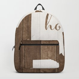 Ohio is Home - White on Wood Backpack
