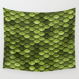 Mermaid Scales   Green with Envy Wall Tapestry