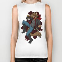 cage Biker Tanks featuring Cage by Poecatcomix