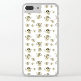Happy Owls Clear iPhone Case