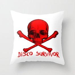 Disco Survivor Throw Pillow