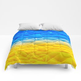 Sunshine and Blue Sky Quilted Abstract Comforters