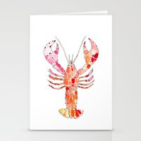 lobster Stationery Cards featuring Lobster by fossilized
