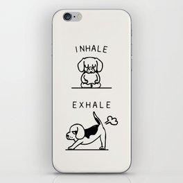 Inhale Exhale Beagle iPhone Skin