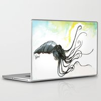 squid Laptop & iPad Skins featuring Squid by Fernando Eizaguirre