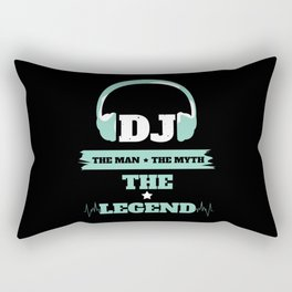 DJ Man Myth Legend Rectangular Pillow