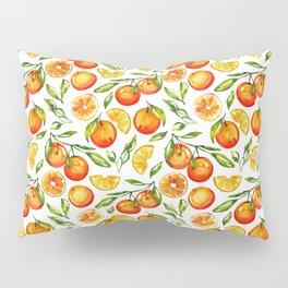 orange pattern tangerine citrus print Pillow Sham