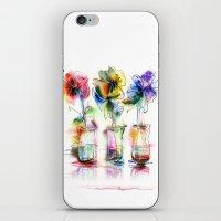 card iPhone & iPod Skins featuring card by tatiana-teni