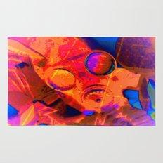 Abstract Gasmask Rug