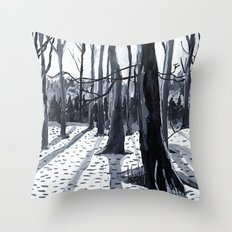 Ink Trees Throw Pillow