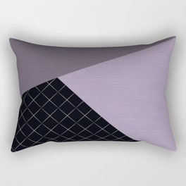Combined lilac, black, pattern. patchwork. Rectangular Pillow