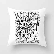 Words are Magic Throw Pillow