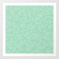 Geo Lines Mint Art Print
