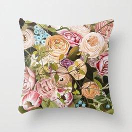 Trailing Jade Bouquet Throw Pillow