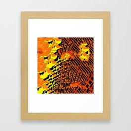 Nightmares:  City Asleep in the Raging Inferno Framed Art Print