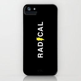 Radical - White on Black iPhone Case