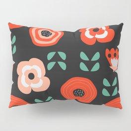 Midnight floral decor Pillow Sham