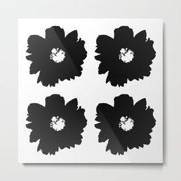 Black Peony Bouquet Metal Print