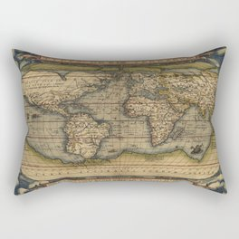 Antique Map of North and South America Rectangular Pillow