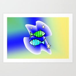 Astrology, fish Art Print