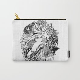 Sea Animals Surreal Doodle Art Carry-All Pouch