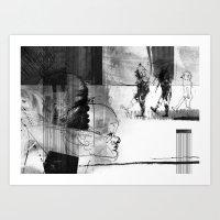 Walking through ZONA Art Print
