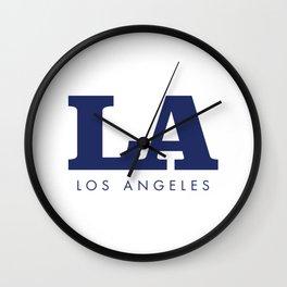 LA - Typography Sign - Los Angeles Wall Clock