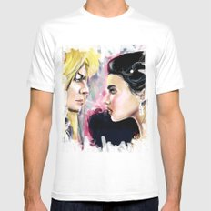 Jareth and Sarah MEDIUM White Mens Fitted Tee