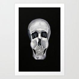Black White & Skull Art Print