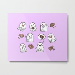 Ghosts Love Chocolate Metal Print