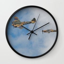 Bristol Blenheim Hurricane and Spitfire Wall Clock