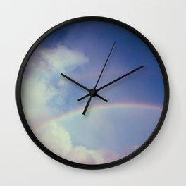 Dreamy Double Rainbow Wall Clock