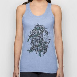 Poetic Lion Turquoise Unisex Tank Top