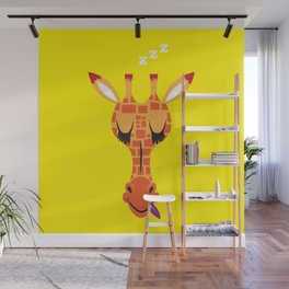 Sleepy Giraffe Wall Mural