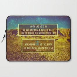 GO. (EXODUS 4:11-12) Laptop Sleeve