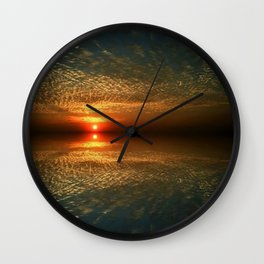 Last Sunset with a Friend Wall Clock