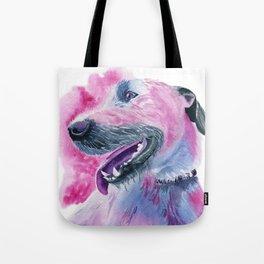 Irish Wolfhound Watercolor Tote Bag