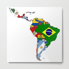 South America Strong Metal Print