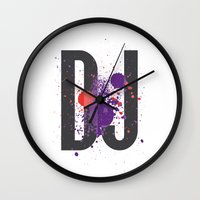 paramore Wall Clocks featuring Art DJ by Sitchko Igor