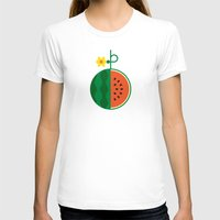 fruit T-shirts featuring Fruit: Watermelon by Christopher Dina