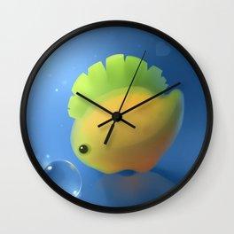 banana dino Wall Clock