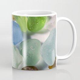 Colorful New England Beach Glass Coffee Mug