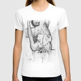 Please Don't Stop b&w T-shirt
