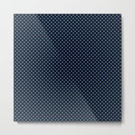 Black and Star Sapphire Polka Dots Metal Print