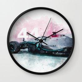 Formula One Lewis Hamilton 44 Wall Clock