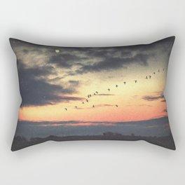 Looking at the Same Moon Rectangular Pillow