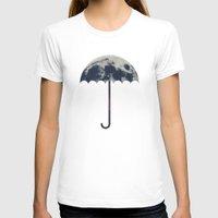 umbrella T-shirts featuring Space Umbrella by filiskun