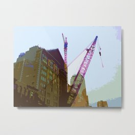 NY#4 Ground Zero, brown Metal Print